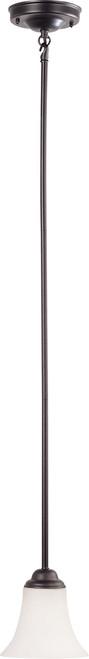 NUVO Lighting 60/1851 Dupont 1 Light Mini Pendant with Satin White Glass