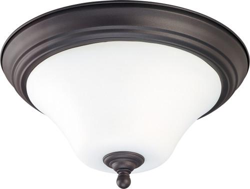 "NUVO Lighting 60/1846 Dupont 2 light 15"" Flushmount with Satin White Glass"