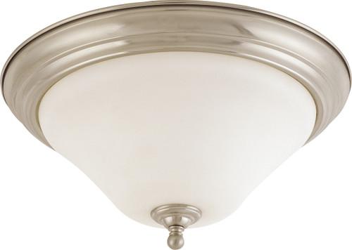 "NUVO Lighting 60/1826 Dupont 2 light 15"" Flushmount with Satin White Glass"