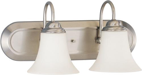 NUVO Lighting 60/1833 Dupont 2 Light Vanity with Satin White Glass