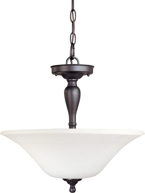 NUVO Lighting 60/1847 Dupont 3 Light Semi Flushmount with Satin White Glass