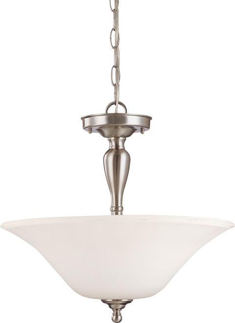NUVO Lighting 60/1827 Dupont 3 Light Semi Flushmount with Satin White Glass