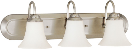 NUVO Lighting 60/1914 Dupont ES 3 Light Vanity with Satin White Glass 13W GU24 (Bulbs Included)
