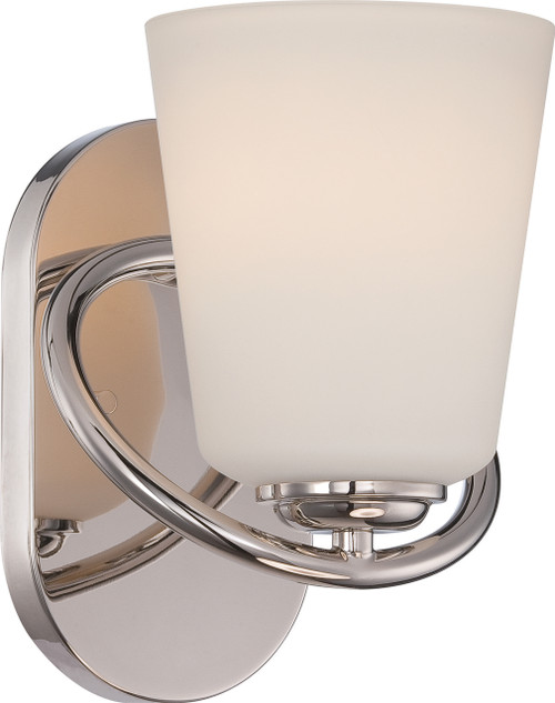 NUVO Lighting 62/406 Dylan 1 Light Vanity Fixture with Satin White Glass (LED Omni Bulb Included)