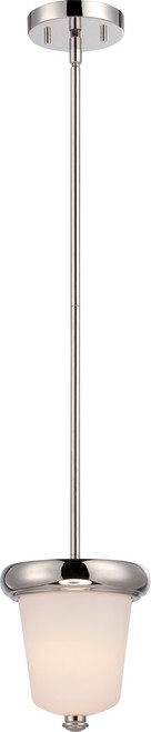 NUVO Lighting 62/402 Dylan 1 Light Mini Pendant with Etched Opal Glass (LED Omni Bulb Included)
