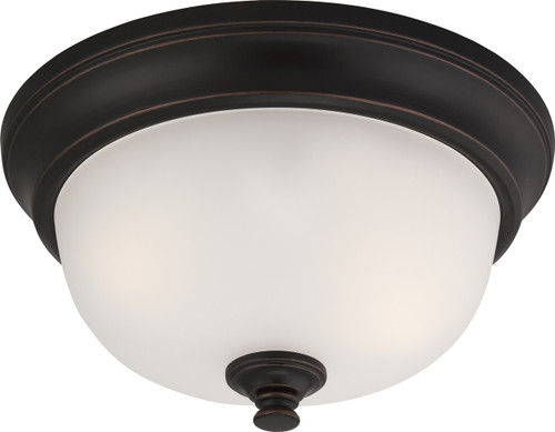 NUVO Lighting 60/5690 Elizabeth 2 Light Flushmount Fixture with Frosted Glass