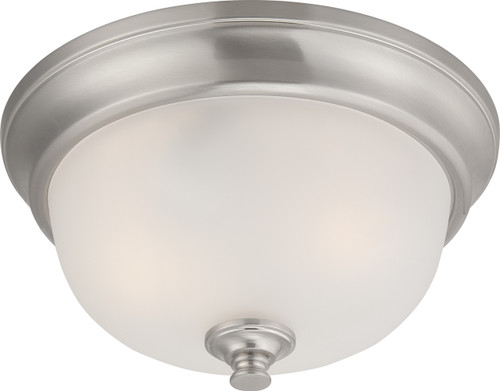 NUVO Lighting 60/5590 Elizabeth 2 Light Flushmount Fixture with Frosted Glass