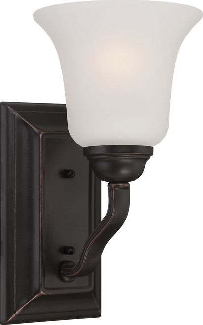 NUVO Lighting 60/5691 Elizabeth 1 Light Vanity Fixture with Frosted Glass