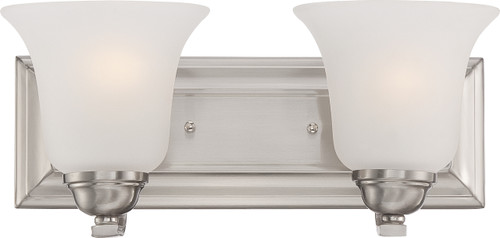 NUVO Lighting 60/5592 Elizabeth 2 Light Vanity Fixture with Frosted Glass
