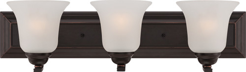 NUVO Lighting 60/5693 Elizabeth 3 Light Vanity Fixture with Frosted Glass