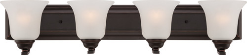 NUVO Lighting 60/5694 Elizabeth 4 Light Vanity Fixture with Frosted Glass