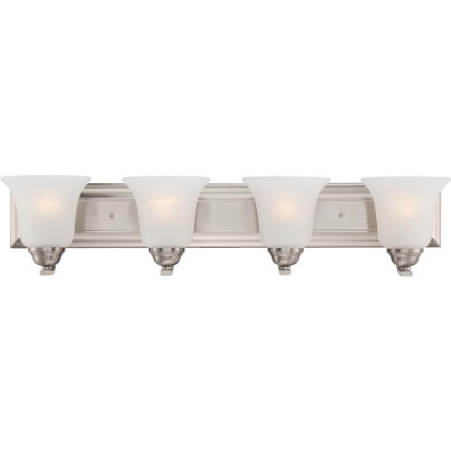 NUVO Lighting 60/5594 Elizabeth 4 Light Vanity Fixture with Frosted Glass
