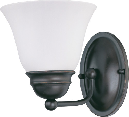 """NUVO Lighting 60/3165 Empire 1 Light 7"""" Vanity with Frosted White Glass"""