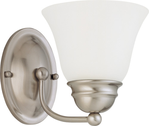 """NUVO Lighting 60/3264 Empire 1 Light 7"""" Vanity with Frosted White Glass"""