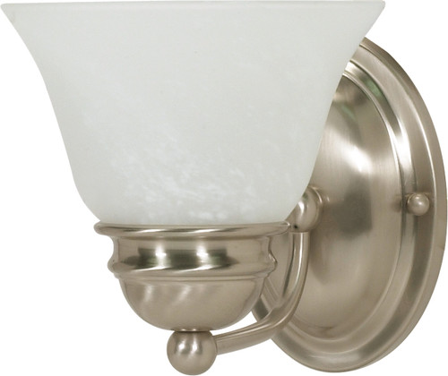 """NUVO Lighting 60/340 Empire 1 Light 7"""" Vanity with Alabaster Glass Bell Shades"""