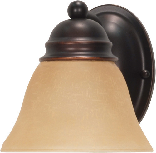 """NUVO Lighting 60/1269 Empire 1 Light 7"""" Vanity with Champagne Linen Washed Glass"""