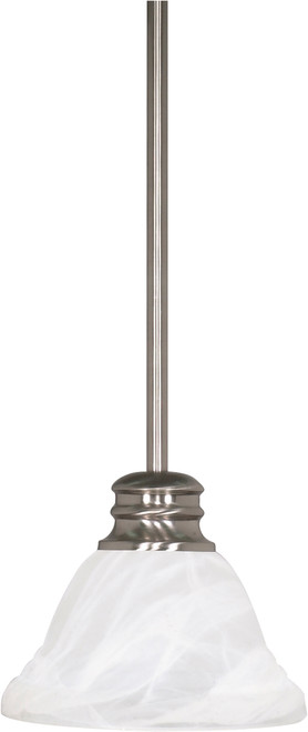 "NUVO Lighting 60/365 Empire 1 Light 7"" Mini Pendant with Hang Straight Canopy"