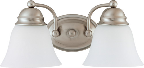 """NUVO Lighting 60/3265 Empire 2 Light 15"""" Vanity with Frosted White Glass"""