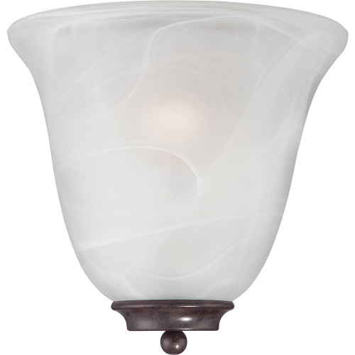 NUVO Lighting 60/5374 Empire 1 Light Wall Sconce Old Bronze with Alabaster Glass