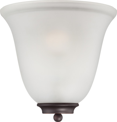 NUVO Lighting 60/5375 Empire 1 Light Wall Sconce Mahogany Bronze with Frosted Glass