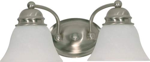 """NUVO Lighting 60/3205 Empire ES 2 Light 15"""" Vanity with Alabaster Glass (2) 13W GU24 (Bulbs Included)"""