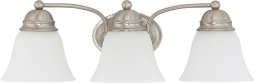 """NUVO Lighting 60/3266 Empire 3 Light 21"""" Vanity with Frosted White Glass"""