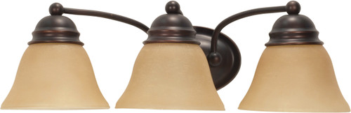 """NUVO Lighting 60/1272 Empire 3 Light 21"""" Vanity with Champagne Linen Washed Glass"""