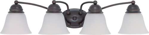 """NUVO Lighting 60/3168 Empire 4 Light 29"""" Vanity with Frosted White Glass"""
