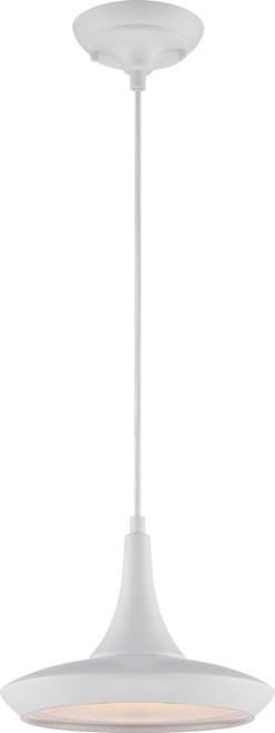 NUVO Lighting 62/442 Fantom LED Colored Pendant with Rayon Wire