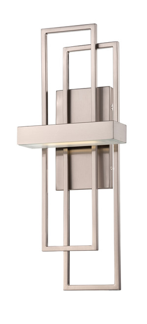 NUVO Lighting 62/105 Frame 1 Module Wall Sconce with Frosted Glass