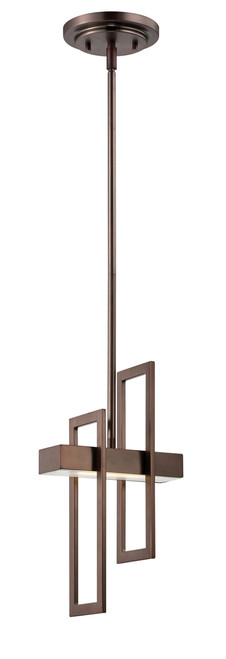 NUVO Lighting 62/126 Frame 1 Module Pendant with Frosted Glass