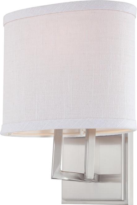 NUVO Lighting 60/4751 Gemini 1 Light Vanity Fixture with Slate Gray Fabric Shade