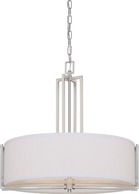 NUVO Lighting 60/4756 Gemini 4 Light Pendant with Slate Gray Fabric Shade