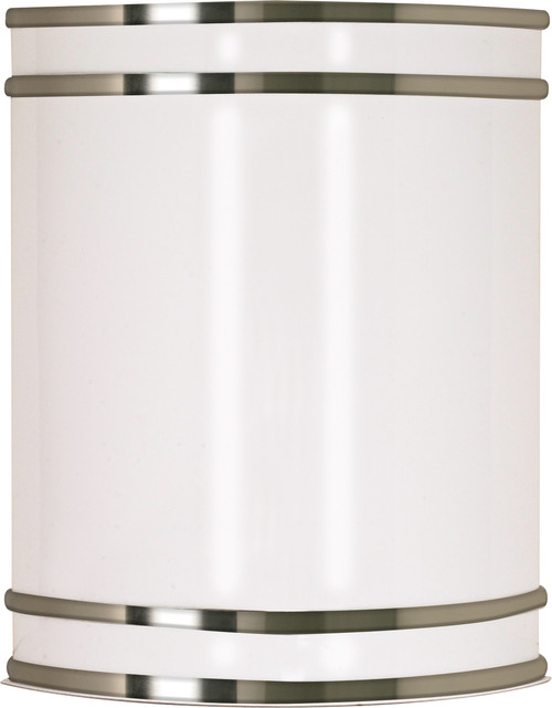 """NUVO Lighting 60/907 Glamour 1 Light CFL 9"""" Wall Fixture Fluorescent (1) 18W GU24 (Bulb Included)"""