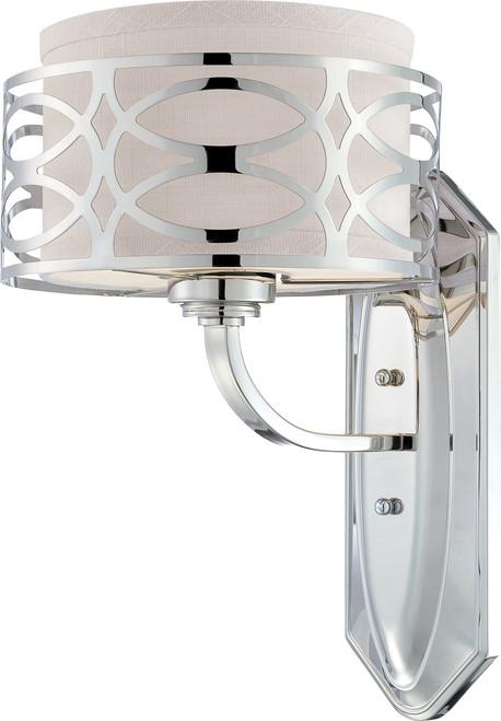 NUVO Lighting 60/4621 Harlow 1 Light Vanity Fixture with Slate Gray Fabric Shade