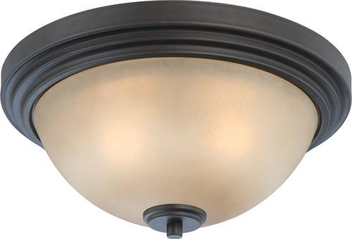 NUVO Lighting 60/4131 Harmony 2 Light Flushmount Dome Fixtue with Saffron Glass