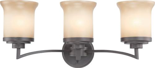 NUVO Lighting 60/4123 Harmony 3 Light Vanity Fixture with Saffron Glass