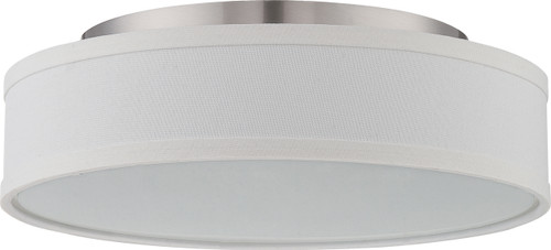 NUVO Lighting 62/524 Heather LED Flushmount Fixture with White Linen Shade