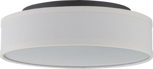 NUVO Lighting 62/525 Heather LED Flushmount Fixture with White Linen Shade