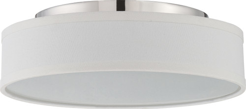 NUVO Lighting 62/526 Heather LED Flushmount Fixture with White Linen Shade
