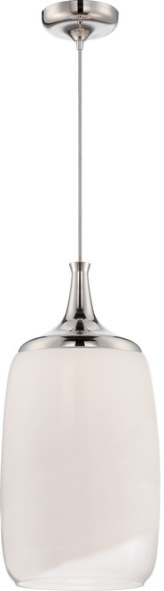 NUVO Lighting 62/344 Horizon LED Glass Pendant with White To Clear Glass