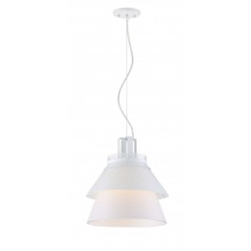 """NUVO Lighting 62/782 Kyto LED 10"""" Pendant with White Opal Glass"""