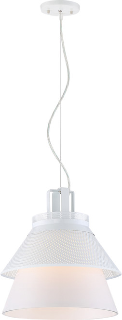"""NUVO Lighting 62/784 Kyto LED 13"""" Pendant with White Opal Glass"""