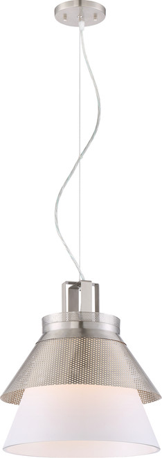 """NUVO Lighting 62/783 Kyto LED 13"""" Pendant with White Opal Glass"""