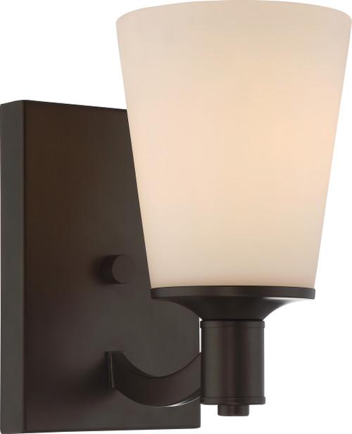 NUVO Lighting 60/5921 Laguna 1 Light Vanity with White Glass