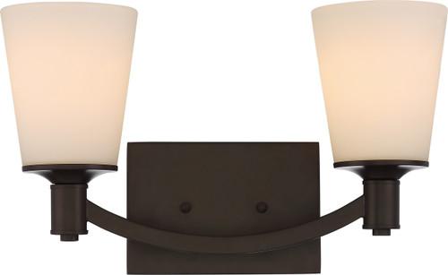 NUVO Lighting 60/5922 Laguna 2 Light Vanity with White Glass