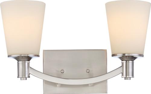 NUVO Lighting 60/5822 Laguna 2 Light Vanity with White Glass
