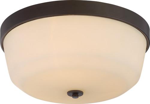 NUVO Lighting 60/5924 Laguna 3 Light Flushmount Fixture with White Glass