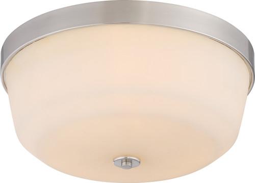 NUVO Lighting 60/5824 Laguna 3 Light Flushmount Fixture with White Glass