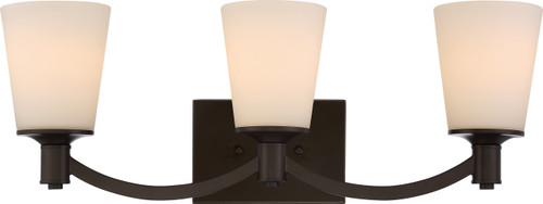NUVO Lighting 60/5923 Laguna 3 Light Vanity with White Glass